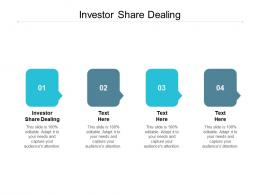 Investor Share Dealing Ppt Powerpoint Presentation Summary Background Cpb