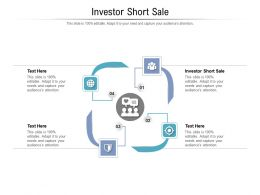 Investor Short Sale Ppt Powerpoint Presentation Show Themes Cpb