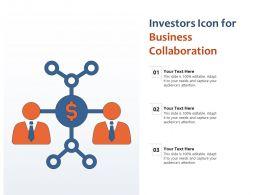 Investors Icon For Business Collaboration