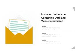 Invitation Letter Icon Containing Date And Venue Information
