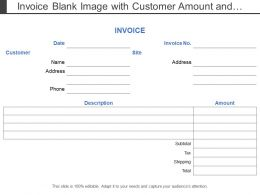 Invoice Blank Image With Customer Amount And Description