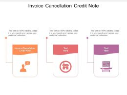 Invoice Cancellation Credit Note Ppt Powerpoint Presentation Inspiration Objects Cpb