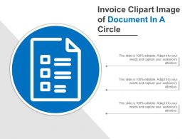 Invoice Clipart Image Of Document In A Circle