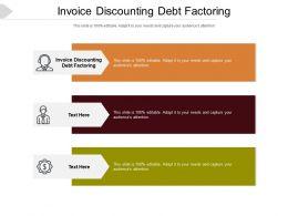 Invoice Discounting Debt Factoring Ppt Powerpoint Presentation Pictures Slideshow Cpb