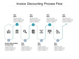 Invoice Discounting Process Flow Ppt Powerpoint Presentation Portfolio Templates Cpb
