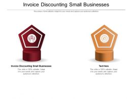 Invoice Discounting Small Businesses Ppt Powerpoint Presentation Portfolio Example Cpb