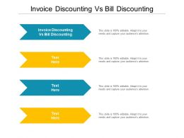 Invoice Discounting Vs Bill Discounting Ppt Powerpoint Presentation Gallery Demonstration Cpb
