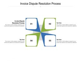 Invoice Dispute Resolution Process Ppt Powerpoint Presentation Outline Slides Cpb