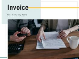 Invoice Employee Inspecting Calculator Businessman Examining