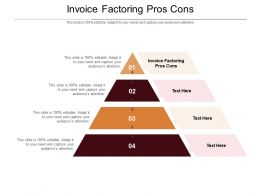 Invoice Factoring Pros Cons Ppt Powerpoint Presentation Icon Topics Cpb