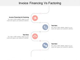 Invoice Financing Vs Factoring Ppt Powerpoint Presentation Layouts Design Ideas Cpb