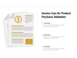 Invoice Icon For Product Purchase Validation