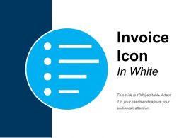 Invoice Icon In White Good Ppt Example