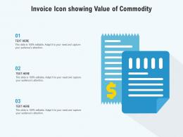 Invoice Icon Showing Value Of Commodity