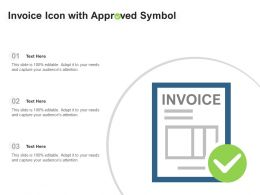 Invoice Icon With Approved Symbol
