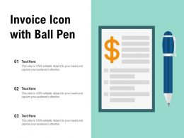Invoice Icon With Ball Pen