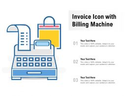 Invoice Icon With Billing Machine