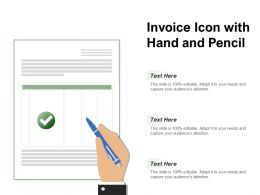 Invoice Icon With Hand And Pencil