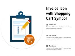 Invoice Icon With Shopping Cart Symbol
