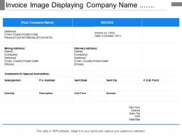Invoice Image Displaying Company Name Salesperson Address And Total Due