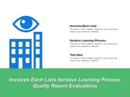Invoices Each Lists Iterative Learning Process Quality Report Evaluations