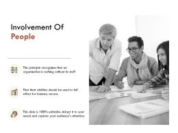 Involvement Of People Growth Gears E216 Ppt Powerpoint Presentation File Shapes