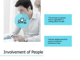 Involvement Of People Management Planning Ppt Powerpoint Presentation Professional Format Ideas