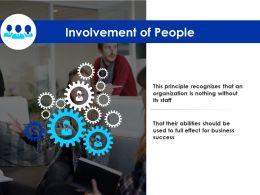Involvement Of People Organization Gears Ppt Powerpoint Presentation Portfolio Grid