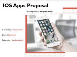IOS Apps Proposal Powerpoint Presentation Slides