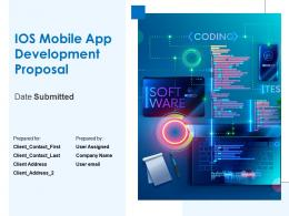 Ios Mobile App Development Proposal Powerpoint Presentation Slides