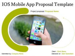 IOS Mobile App Proposal Template Powerpoint Presentation Slides
