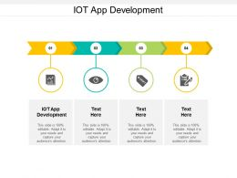 IOT App Development Ppt Powerpoint Presentation Ideas Deck Cpb