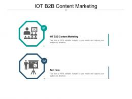 IOT B2B Content Marketing Ppt Powerpoint Presentation Outline Deck Cpb