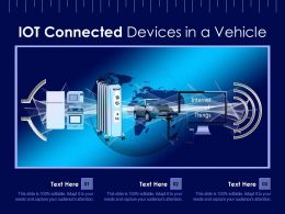IOT Connected Devices In A Vehicle