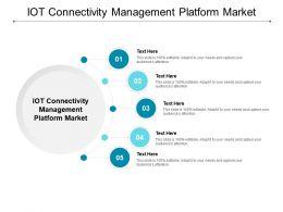 IOT Connectivity Management Platform Market Ppt Powerpoint Presentation Summary Format Cpb