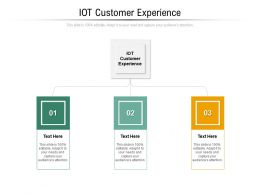 IOT Customer Experience Ppt Powerpoint Presentation Infographics Influencers Cpb