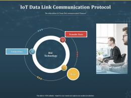 IoT Data Link Communication Protocol Internet Of Things IOT Ppt Powerpoint Presentation Summary