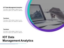 IOT Data Management Analytics Ppt Powerpoint Presentation Icon Master Slide Cpb