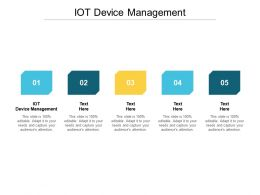 IOT Device Management Ppt Powerpoint Presentation File Graphics Template Cpb