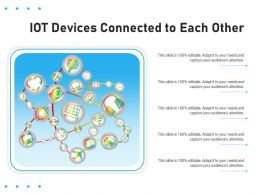IOT Devices Connected To Each Other