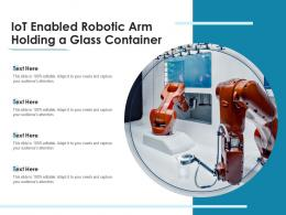 IOT Enabled Robotic Arm Holding A Glass Container