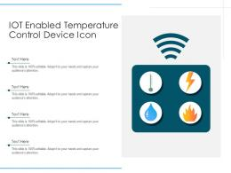 IOT Enabled Temperature Control Device Icon