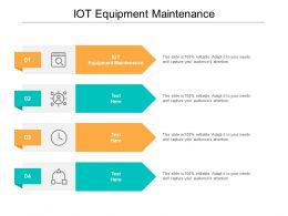 IOT Equipment Maintenance Ppt Powerpoint Presentation Model Example Topics Cpb