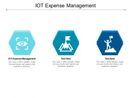 IOT Expense Management Ppt Powerpoint Presentation File Ideas Cpb