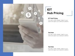 IOT Hub Pricing Ppt Powerpoint Presentation Professional Background Cpb