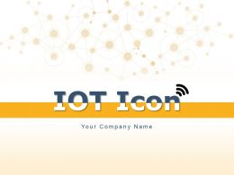 IOT Icon Connected Connections Various Devices Light Bulb