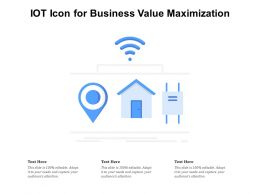 IOT Icon For Business Value Maximization