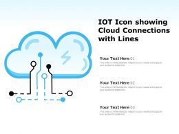IOT Icon Showing Cloud Connections With Lines