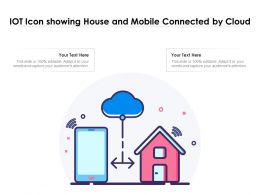 IOT Icon Showing House And Mobile Connected By Cloud