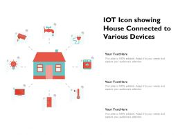 IOT Icon Showing House Connected To Various Devices